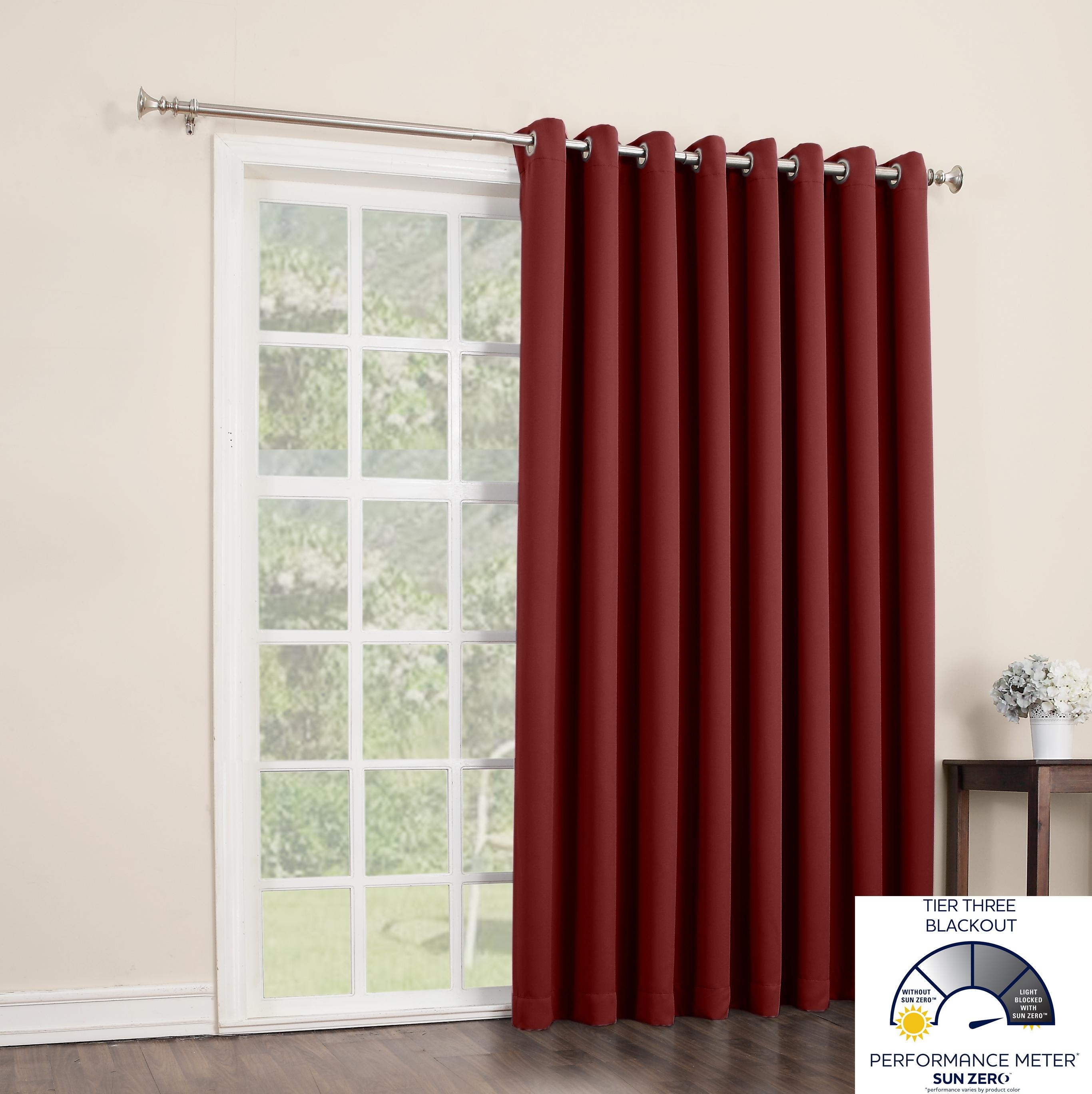 Amazon Sun Zero Easton Blackout Patio Door Curtain Panel 100 In Extra Wide Thermal Curtains (Image 3 of 15)