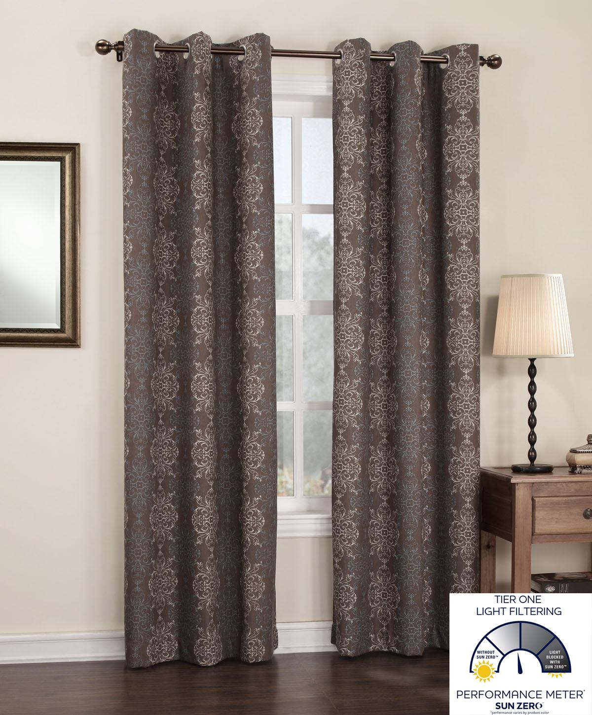 Amazon Sun Zero Ravi Thermal Lined Energy Efficient Curtain Regarding Lined Thermal Curtains (Image 3 of 15)