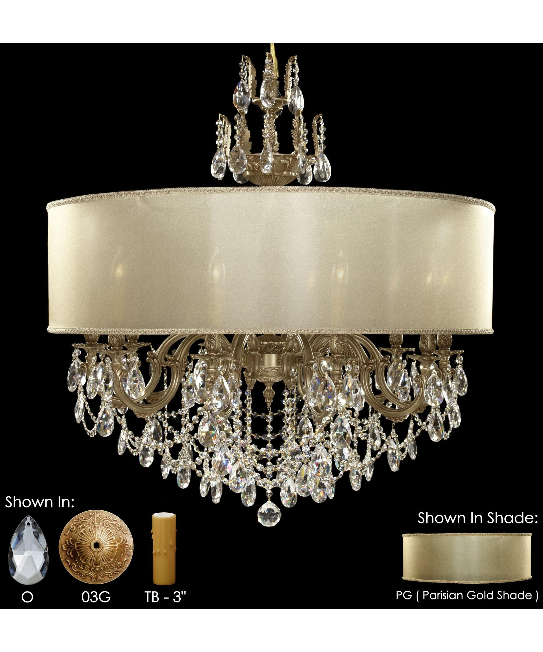 American Brass And Crystal Ch6578 Llydia 36 Inch Wide 12 Light Within Brass And Crystal Chandelier (Image 2 of 15)