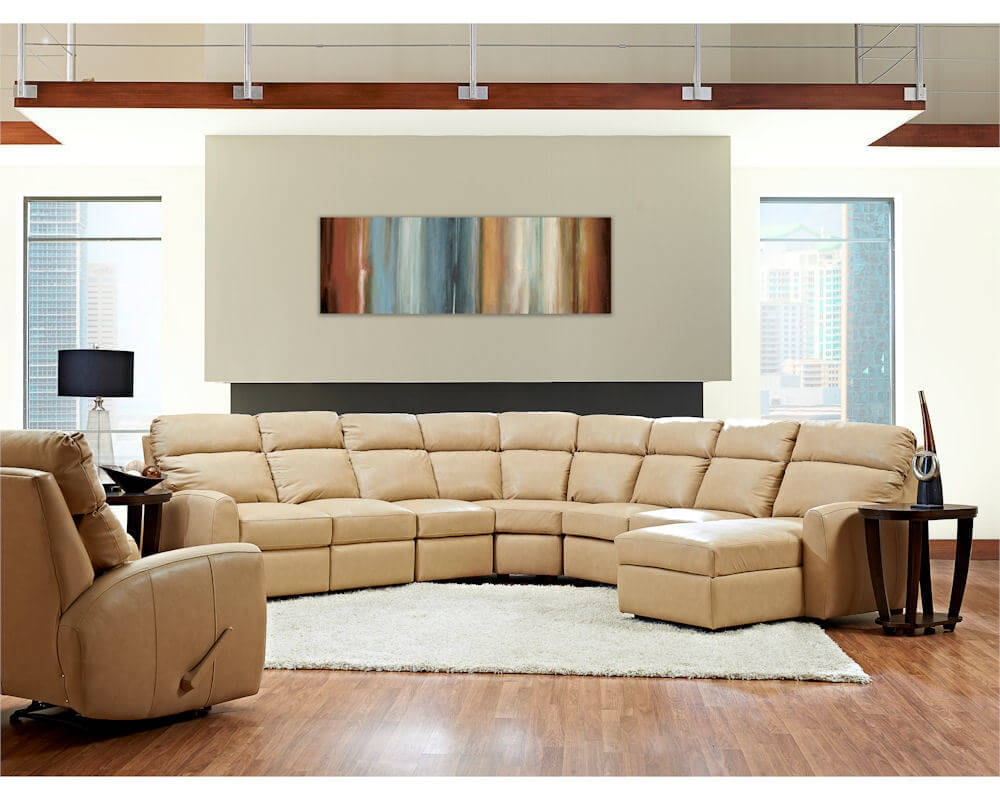 American Made Best Reclining Leather Sectional Ventana Clp114 Inside Sofas Image 1