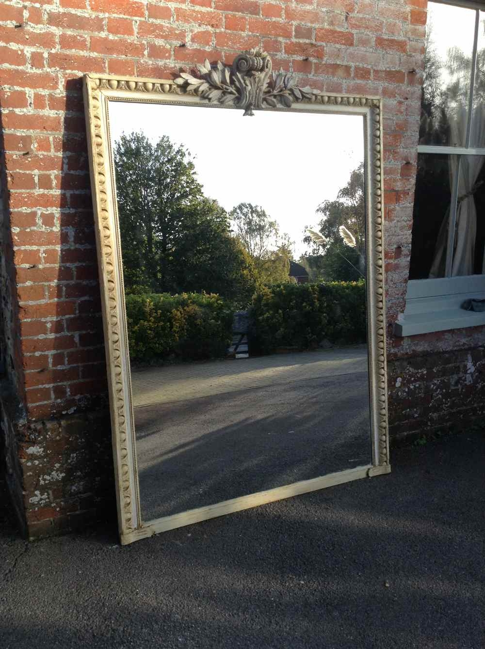 An Absolutely Stunning Extra Large 19th Century French Carved Wood In Very Large Mirrors (Image 5 of 15)