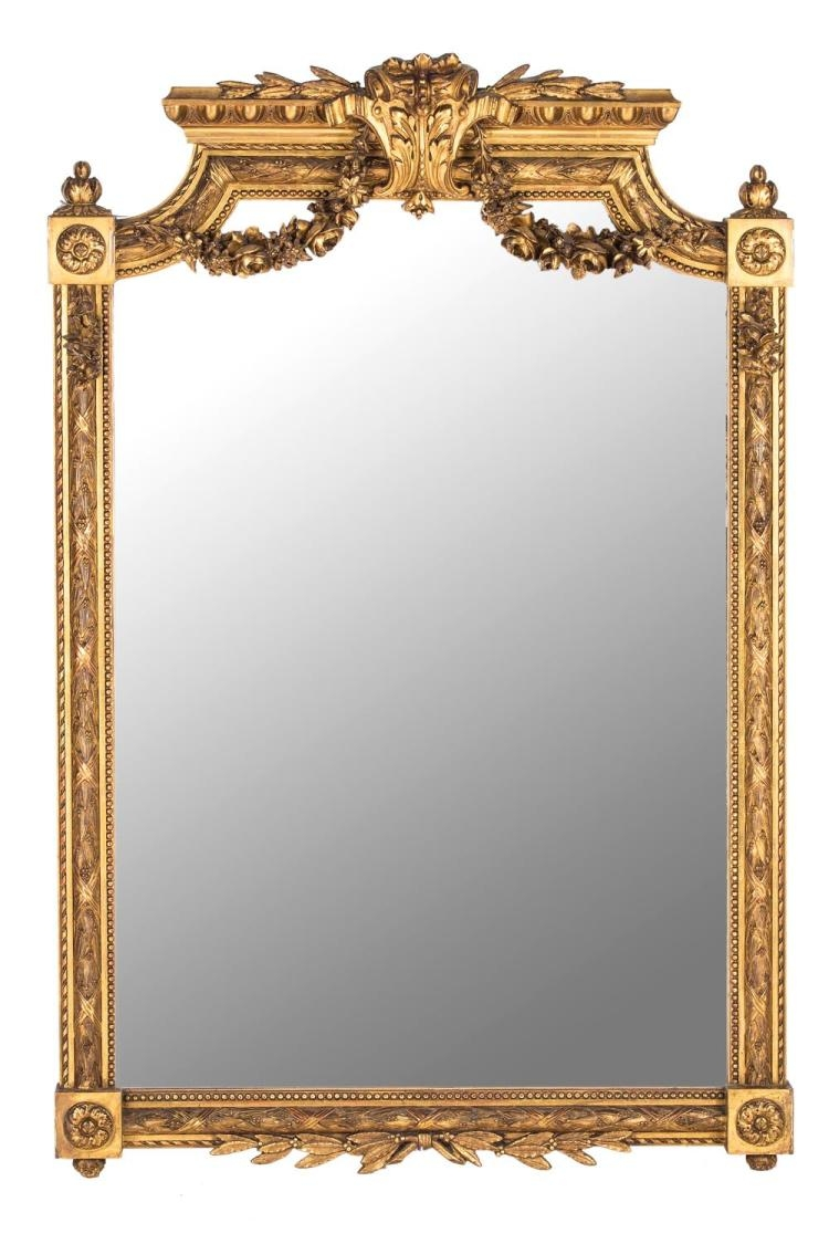 An Empire Style Gilt Framed Mirror French 19th Century Amazing Inside Gilt Edged Mirrors (Image 4 of 15)