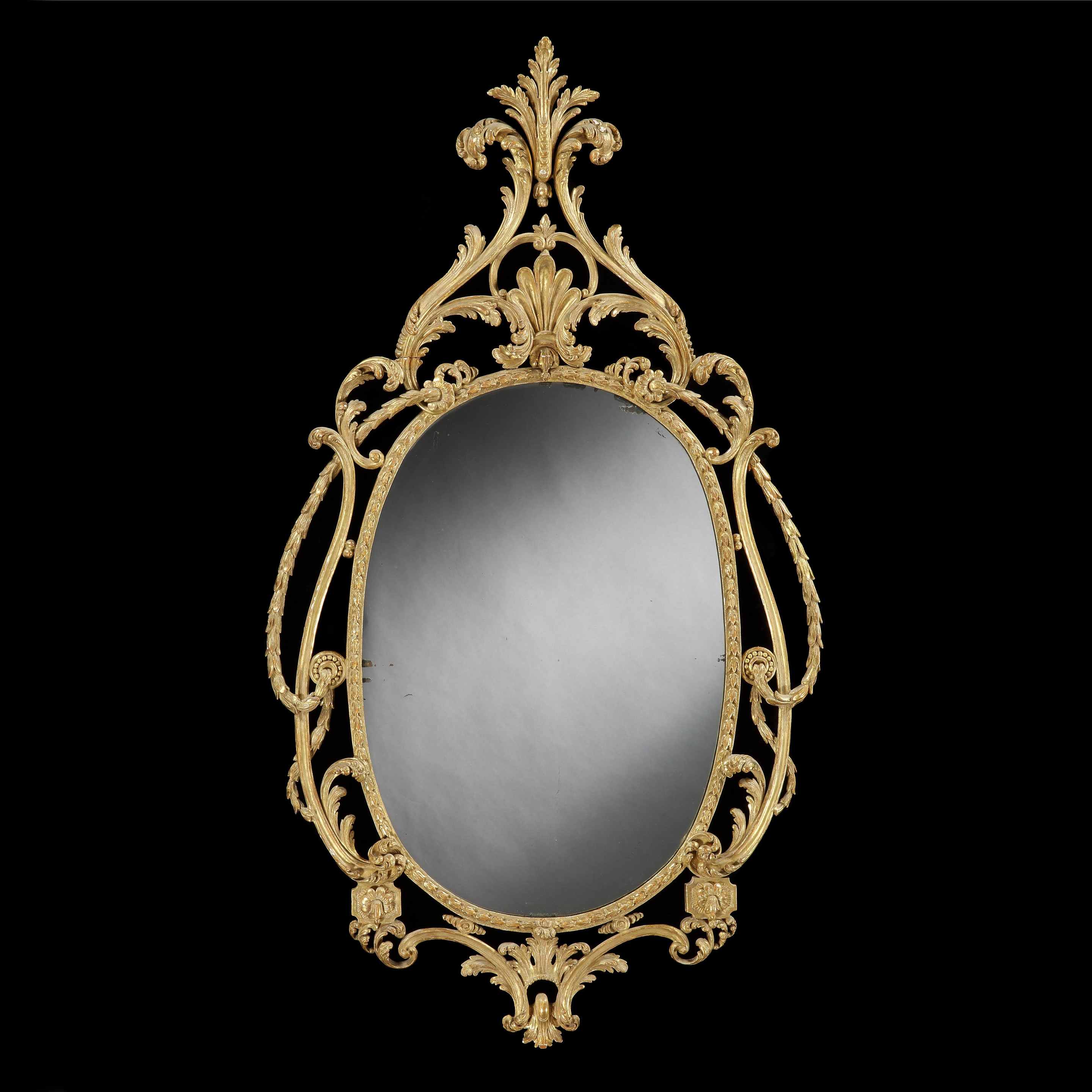 An Important George Iii Rococo Mirror 1770 England From Tarquin Inside Rococo Mirror (Image 5 of 15)