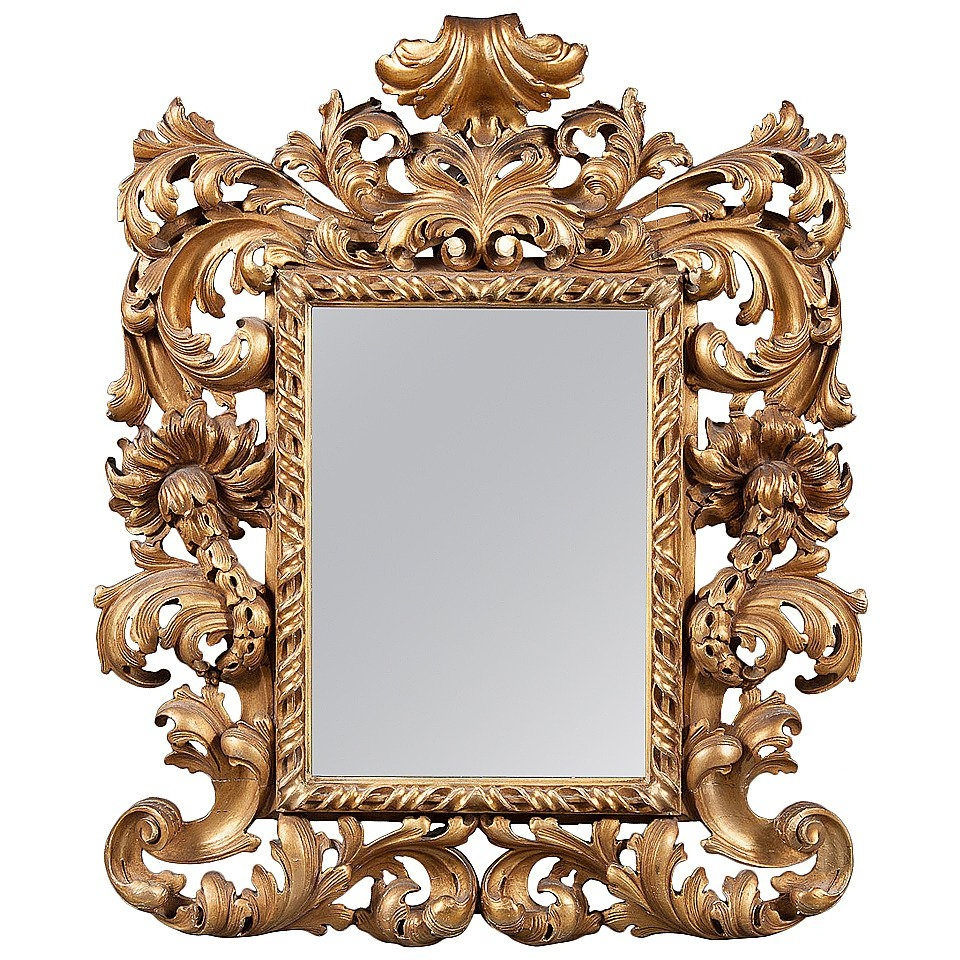An Intricate 19th Century French Giltwood Rococo Style Vanity Or In Rococo Style Mirrors (Image 2 of 15)