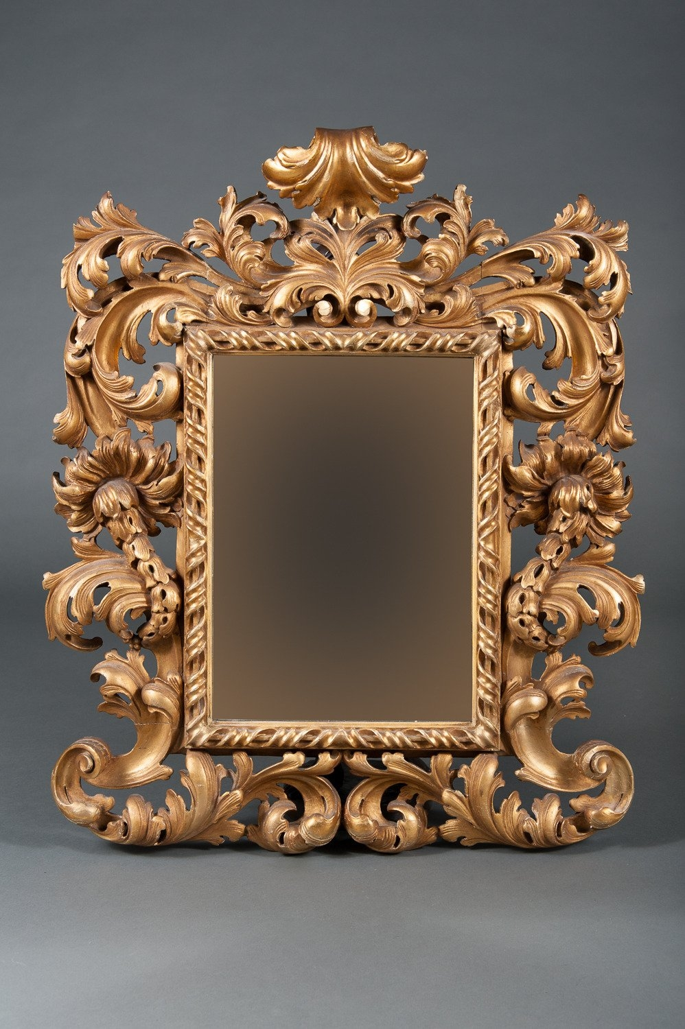 An Intricate 19th Century French Giltwood Rococo Style Vanity Or Within Rococo Wall Mirror (Image 2 of 15)