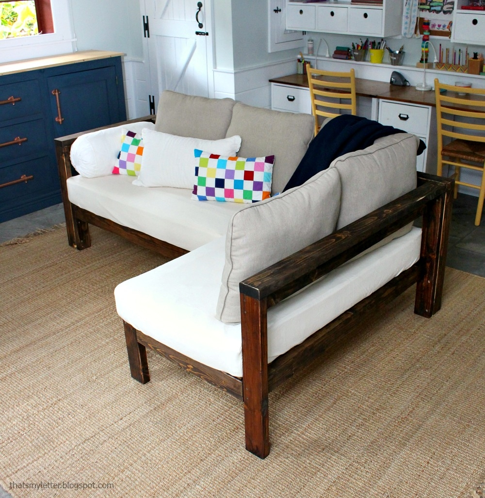 Ana White Kids Couch 2×4 Diy Sectional With Crib Mattress In Diy Sofa Frame (Image 2 of 15)