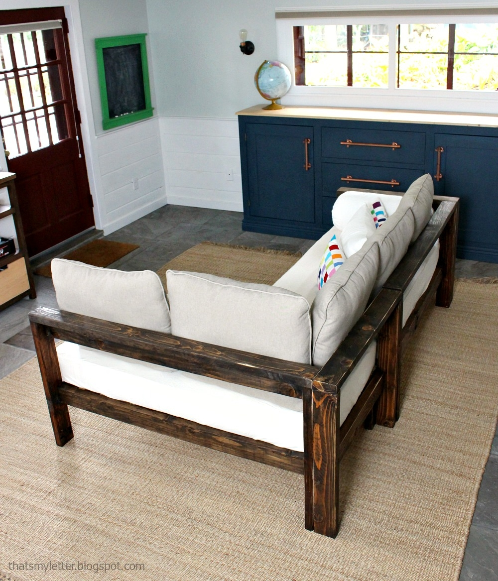 Ana White Kids Couch 2×4 Diy Sectional With Crib Mattress Regarding Diy Sectional Sofa Frame Plans (Image 5 of 15)