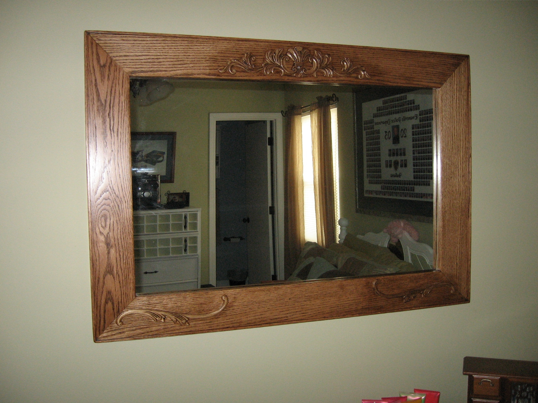 Ana White Oak Mirror Diy Projects Intended For Oak Mirror (Image 1 of 15)