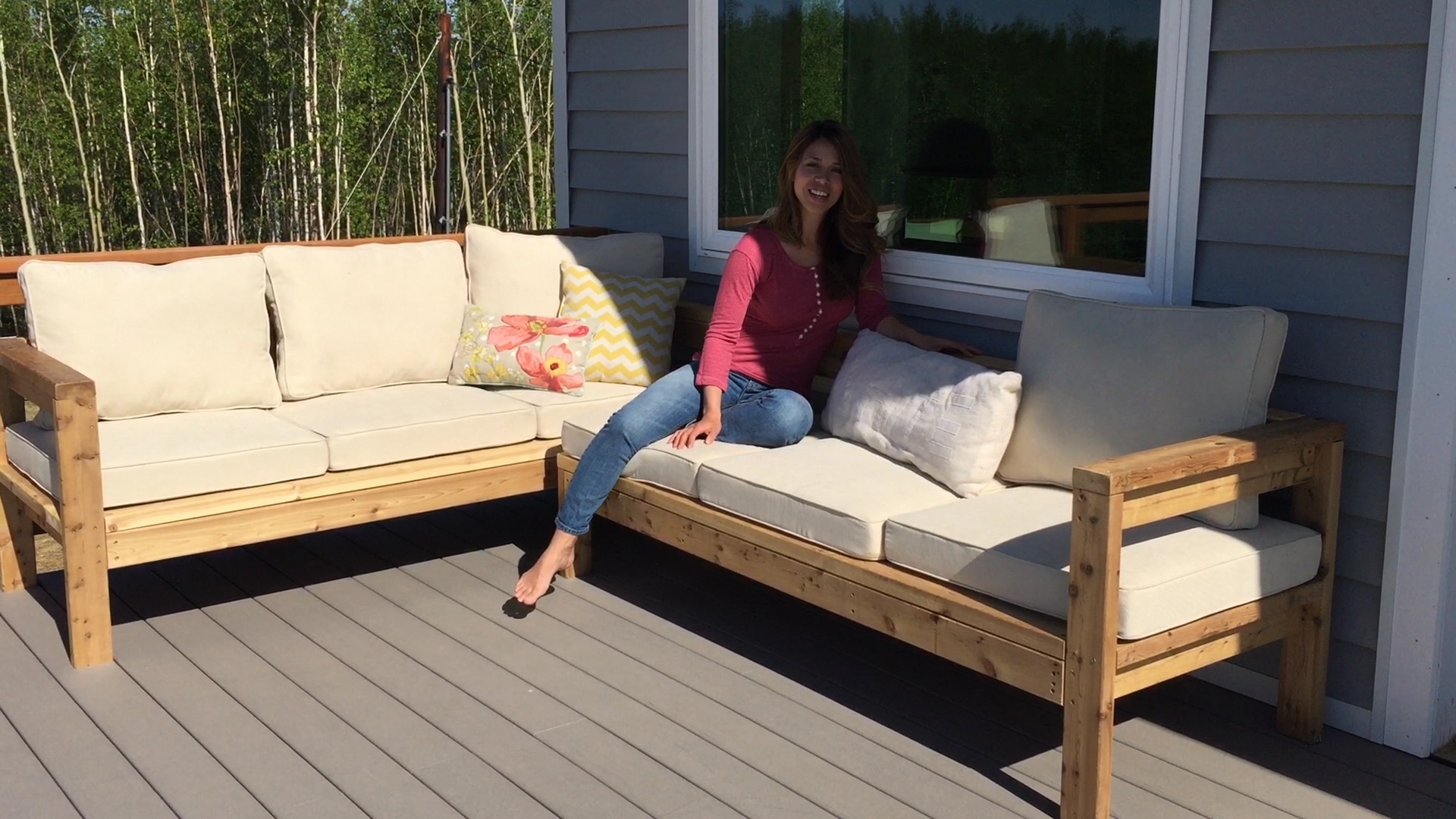 Ana White One Arm Outdoor Sectional Piece Diy Projects In Diy Sectional Sofa (Image 5 of 15)
