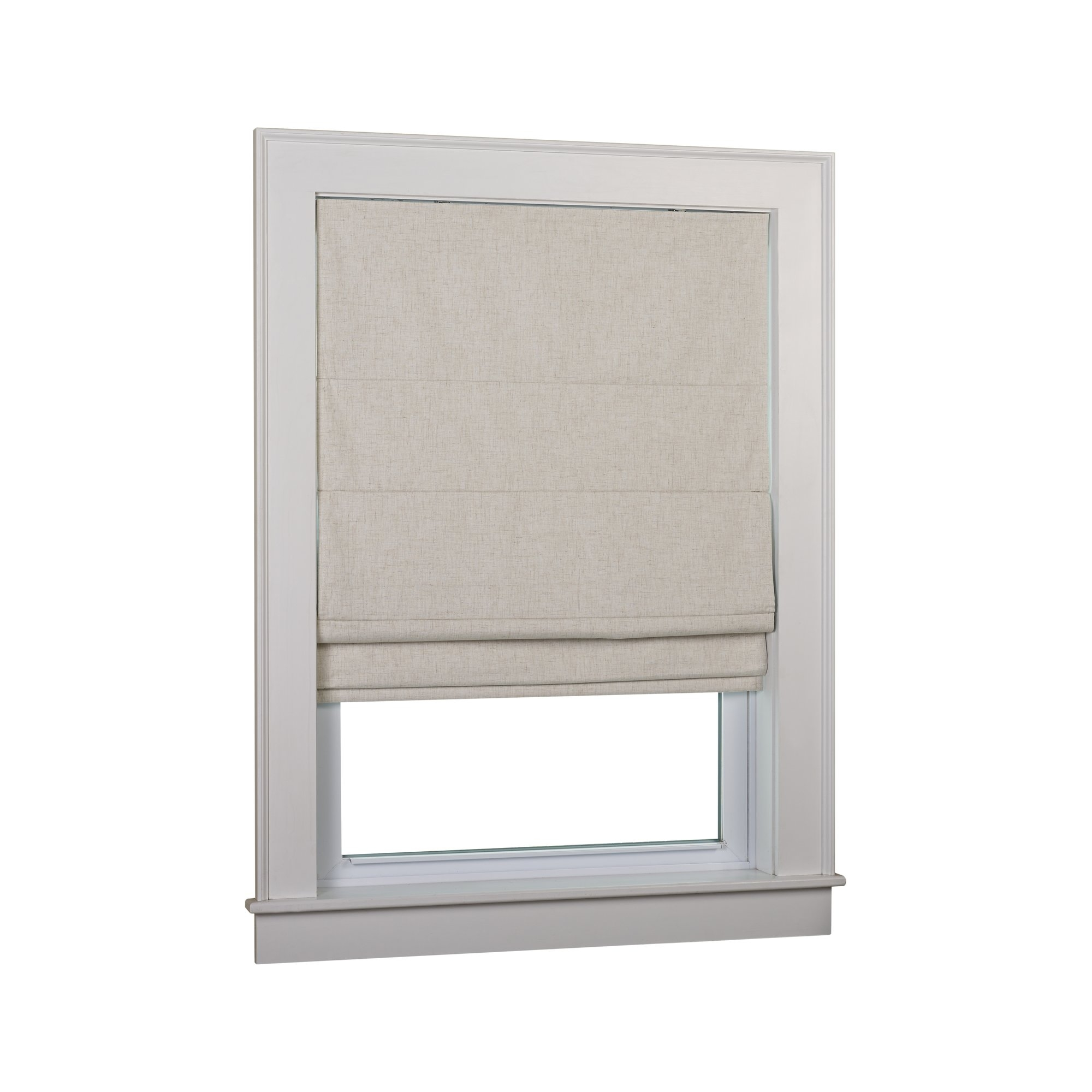 Andover Mills Richmond Linen Cordless Thermal Backed Roman Shade W Regarding Thermal Lined Roman Shades (Image 2 of 15)