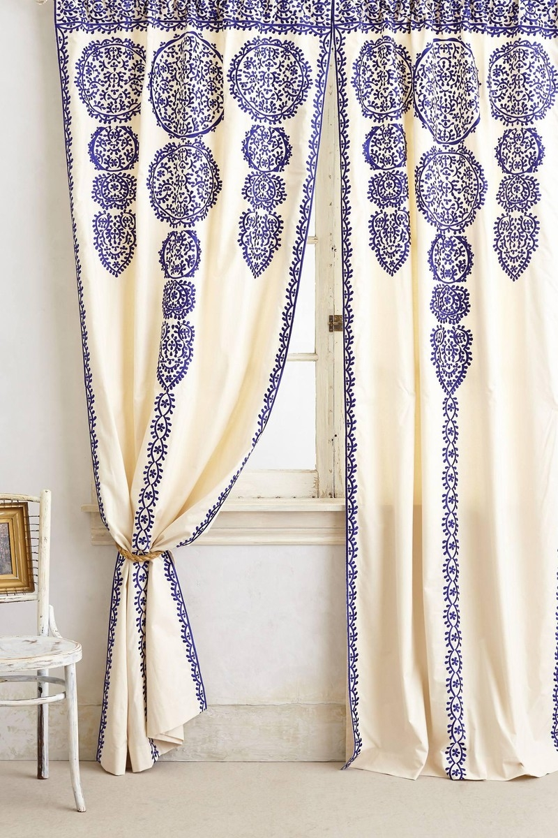 Anthropologie Marrakech Curtain Spinach Other Cool Things Throughout Morrocan Curtains (Image 1 of 15)
