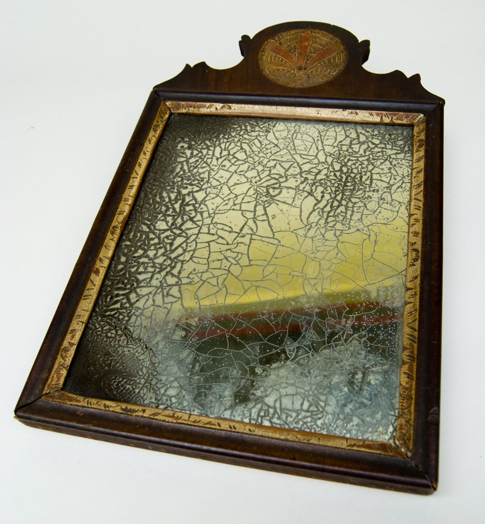 Antique American Pennsylvaina Queen Anne 18th Century 1700s Paint Inside Antiqued Mirrors For Sale (Image 3 of 15)
