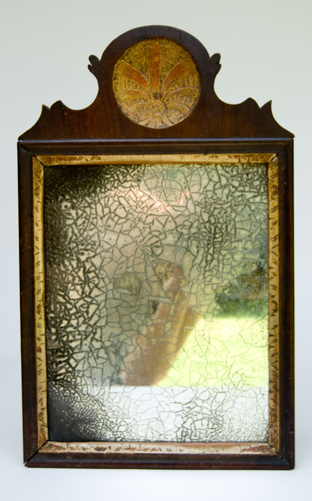 Antique American Pennsylvaina Queen Anne 18th Century 1700s Paint Intended For Antiqued Mirrors For Sale (Image 4 of 15)