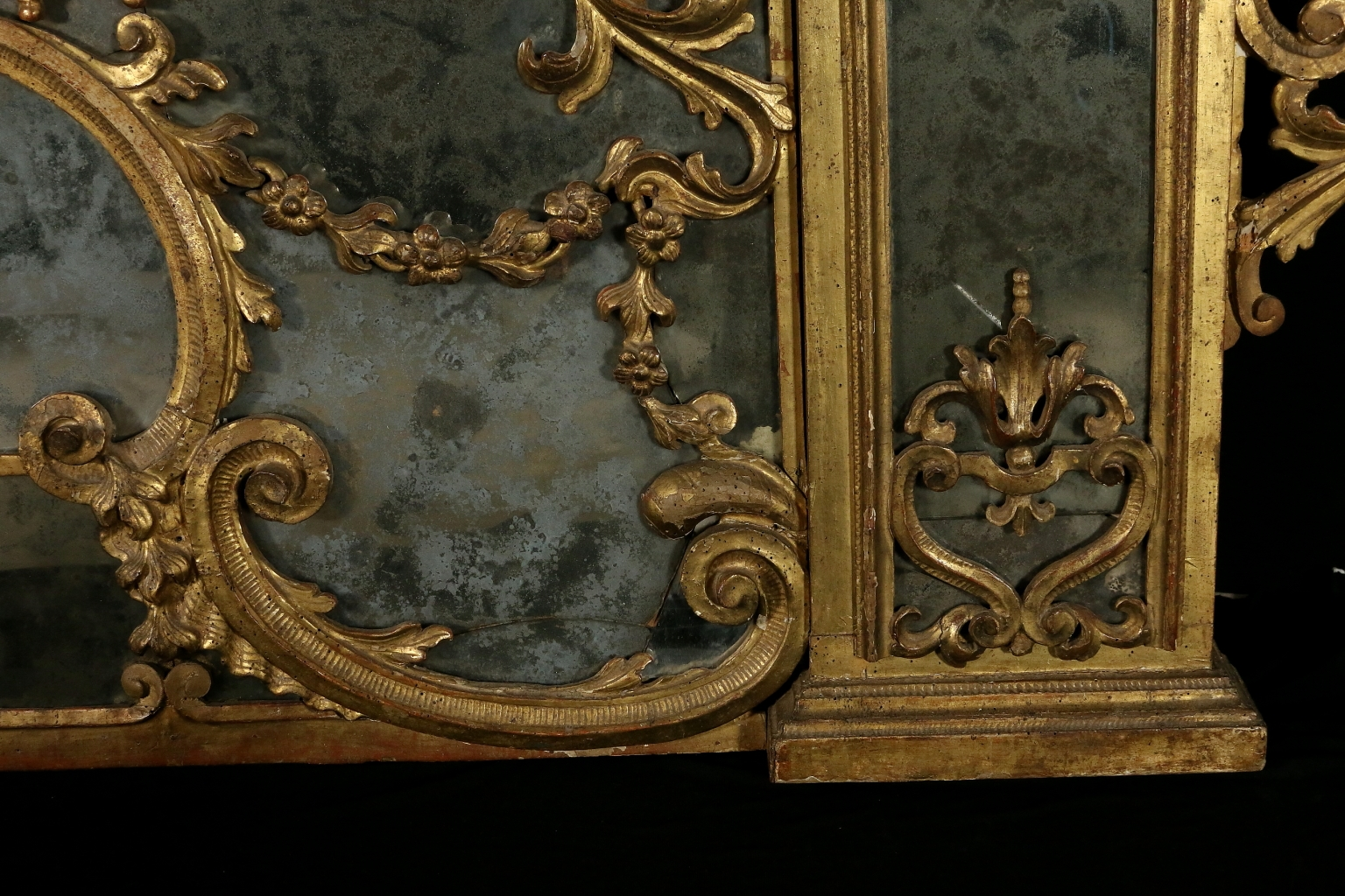 Antique Baroque Linden Carved And Gilded Hearth Mirror For Sale At With Antique Gilded Mirror (Image 3 of 15)