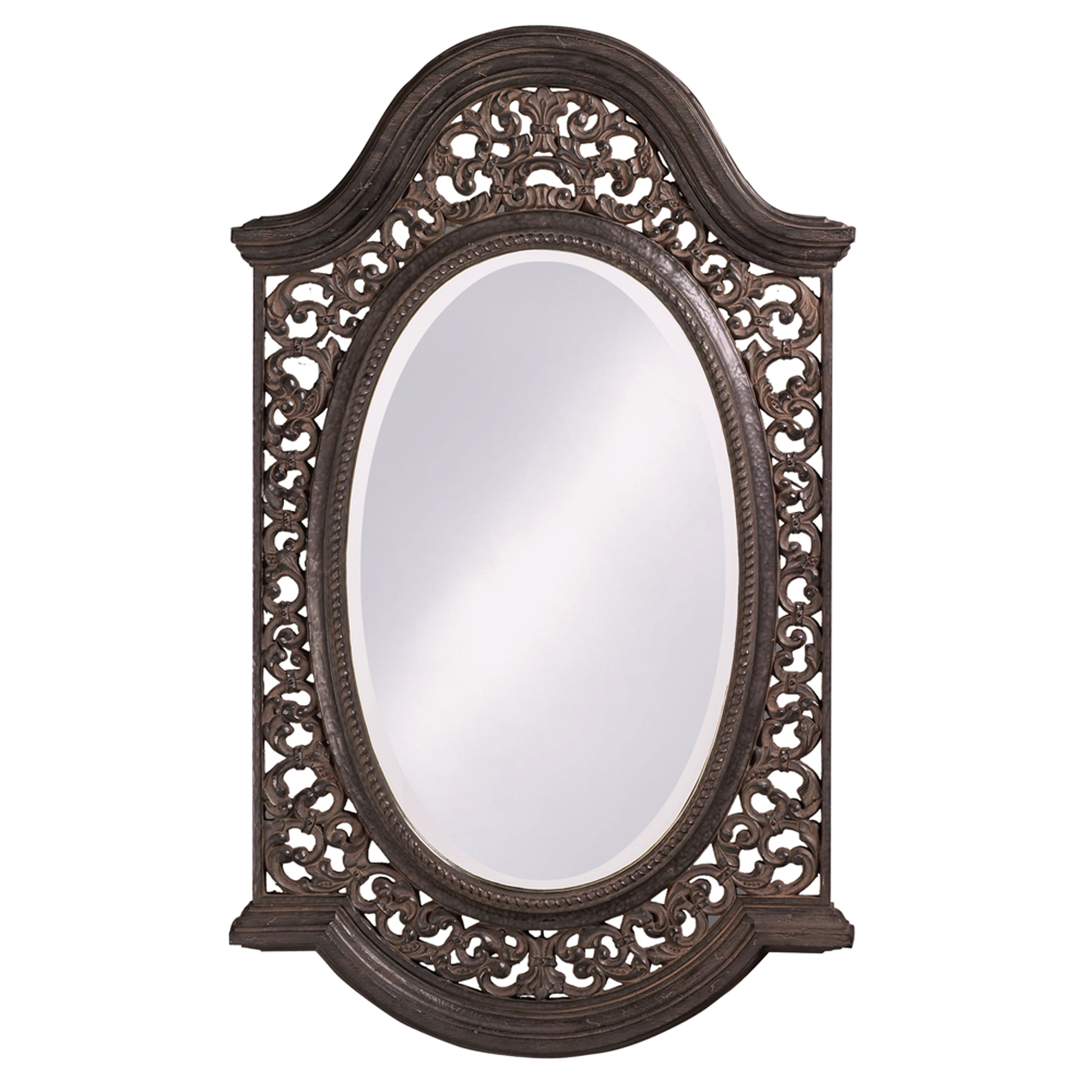 Antique Black Mirror With Silver Highlights Free Shipping Today With Regard To Antique Black Mirror (Image 3 of 15)