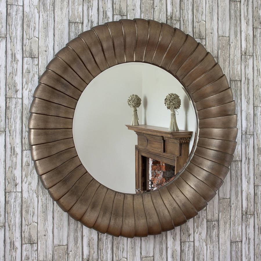 Antique Bronze Round Mirror Decorative Mirrors Online Inside Antique Mirror Online (Image 1 of 15)