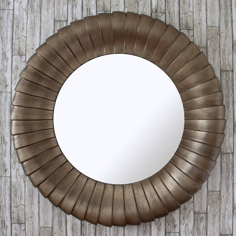 Antique Bronze Round Mirror Decorative Mirrors Online Within Antique Mirror Online (Image 2 of 15)