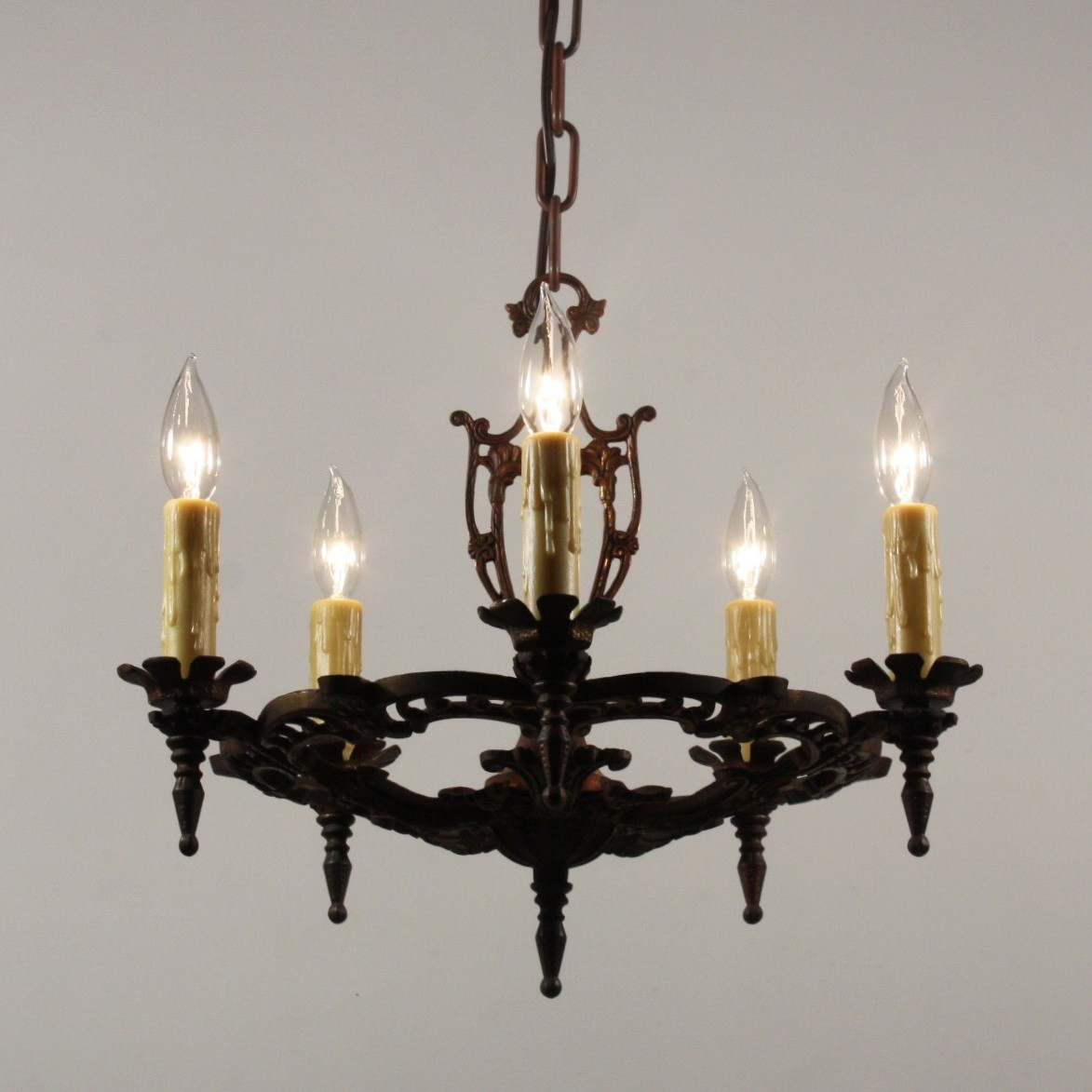 Antique Chandelier In Cast Iron Antique Lighting Preservation Throughout Cast Iron Antique Chandelier (Image 5 of 15)
