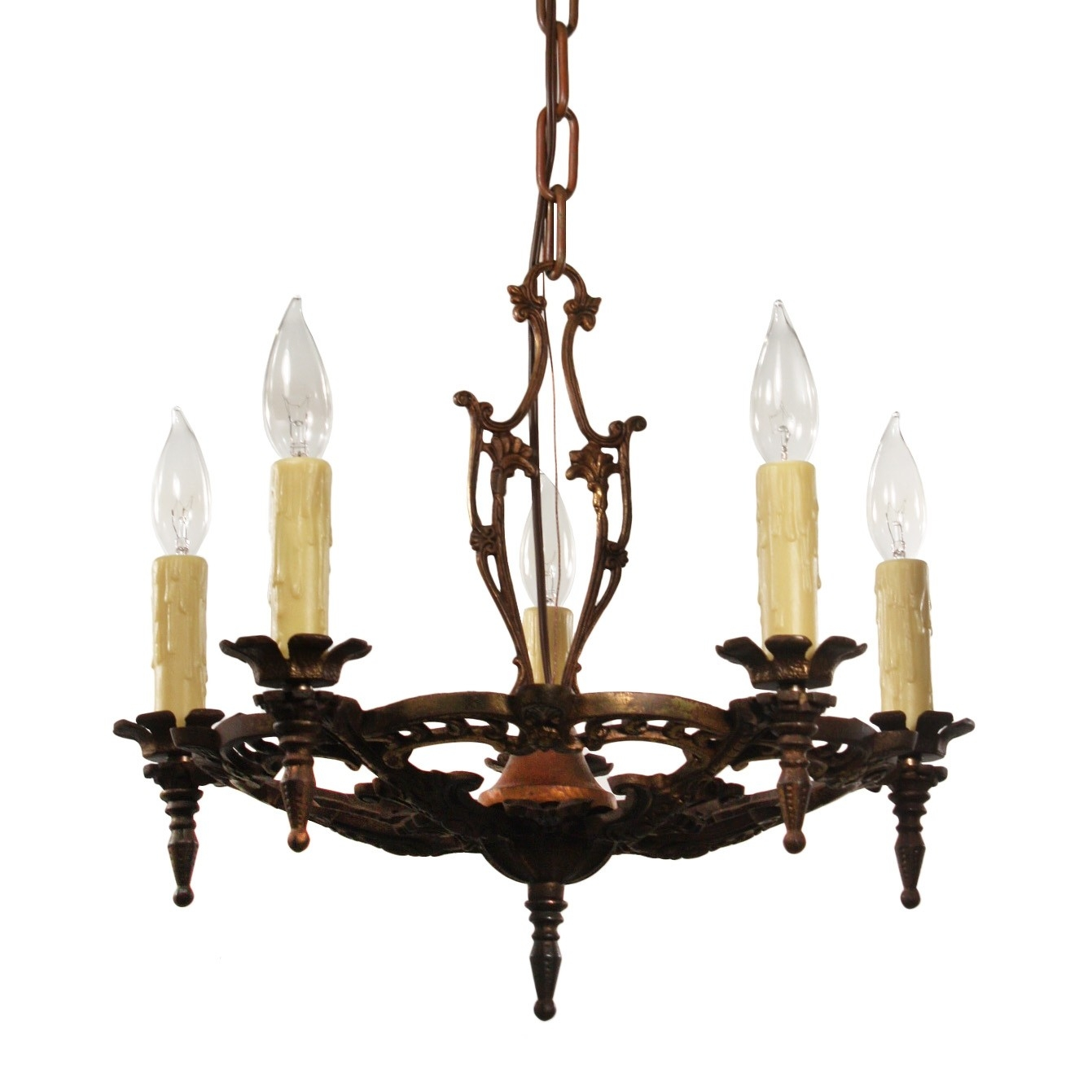 Antique Chandelier In Cast Iron Antique Lighting Preservation With Regard To Cast Iron Antique Chandelier (Image 6 of 15)