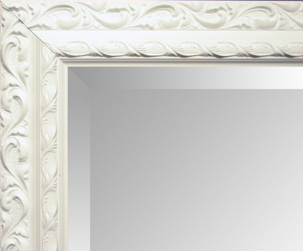 Antique Cream Ornate Shab Chic Wall Mirror Choose Your Size In Cream Mirror (Image 1 of 15)