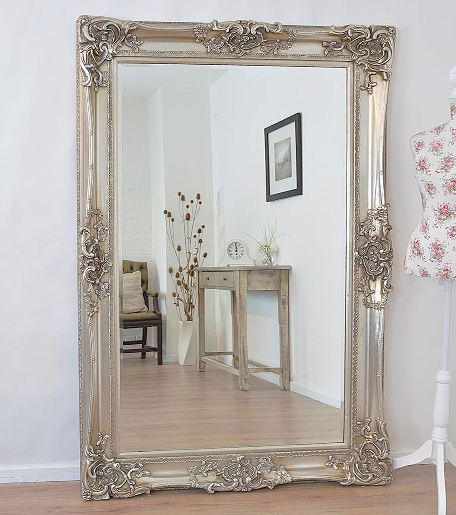 Antique Design Ornate Wall Mirror Will Make A Beautiful Addition Regarding Big Shabby Chic Mirrors (Image 4 of 15)