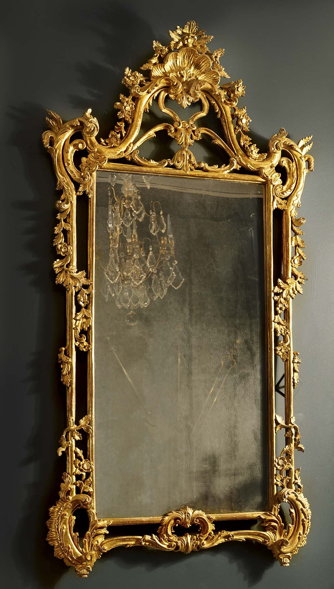Antique English Rococo Gilded Mirror Furniture Props Pinterest Pertaining To Large Gilt Framed Mirror (Image 2 of 15)