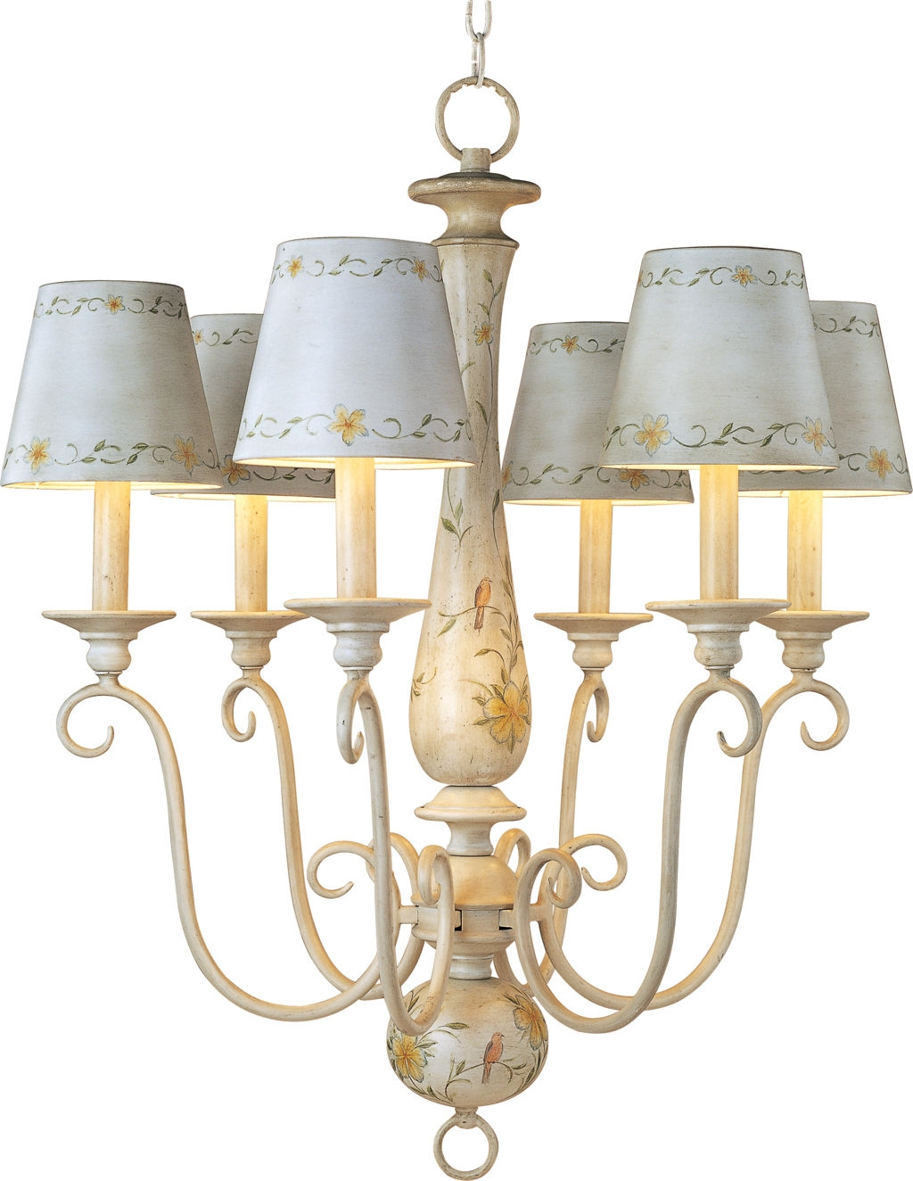 Antique French Country Mini Chandelier With Ceramic Lamp Shades Inside French Style Chandeliers (Image 1 of 15)