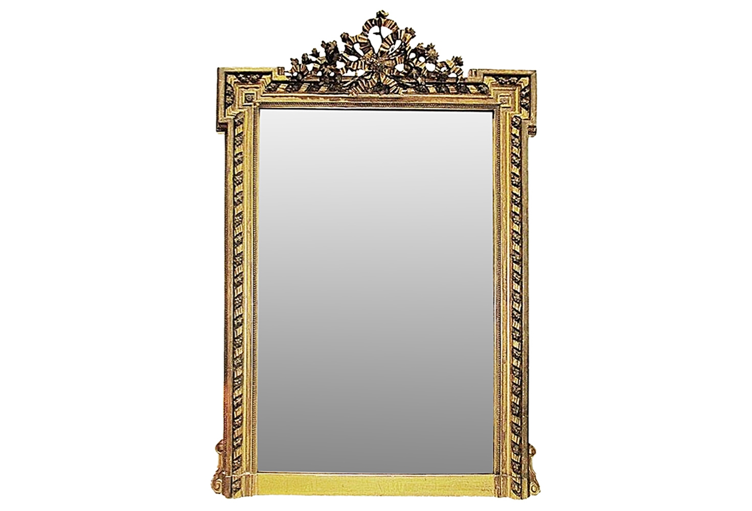Antique French Gilt Mirror Omero Home For French Gilt Mirror (Image 5 of 15)