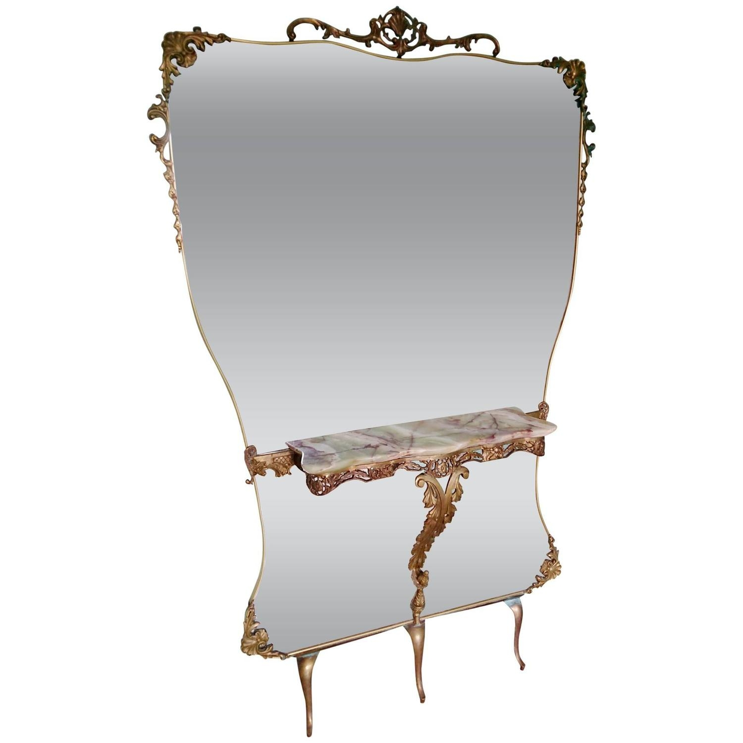 Antique French Gold Gilt Floor Standing Mirror At 1stdibs With Regard To Gold Standing Mirror (View 12 of 15)