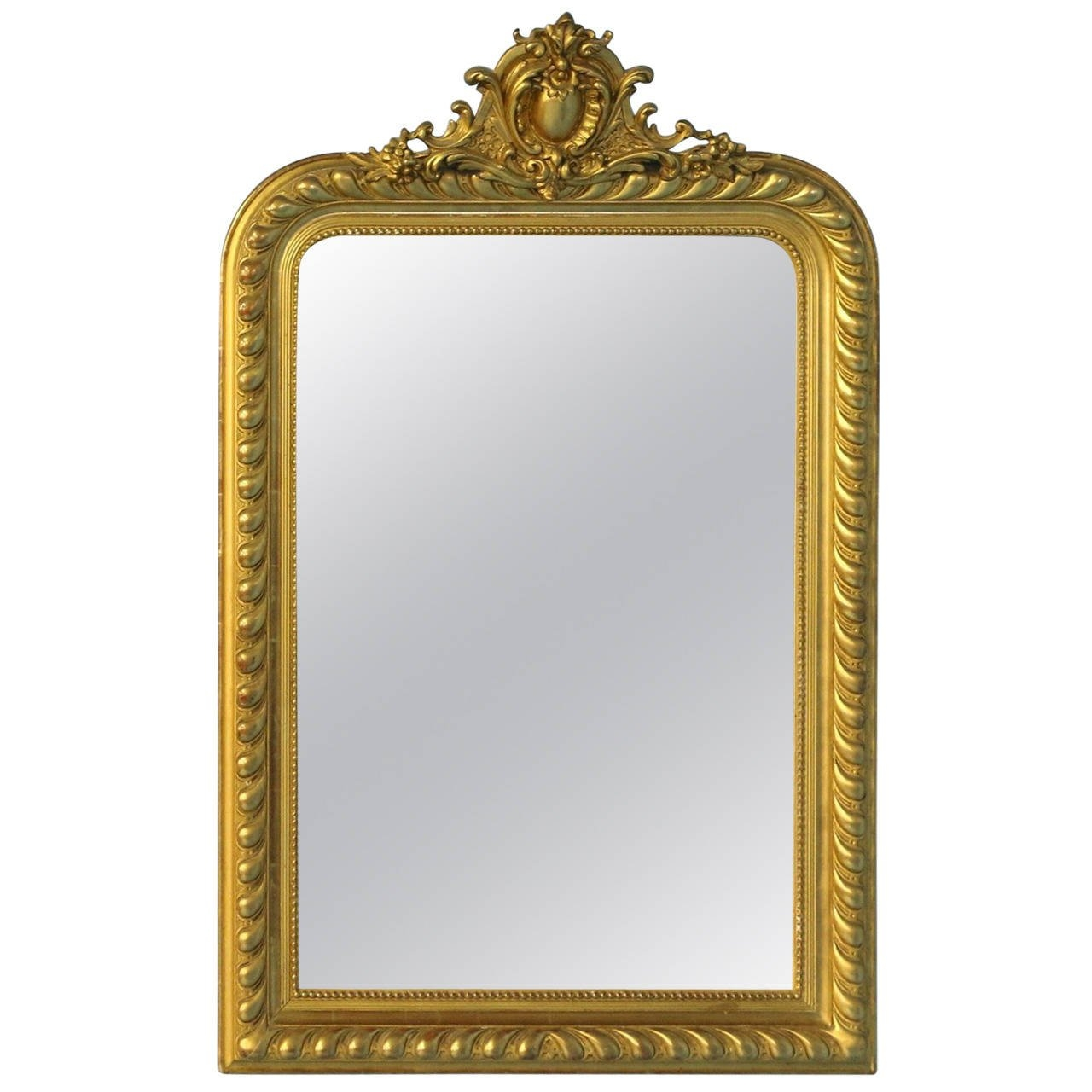 Antique French Gold Gilt Mirror Circa 1860 80 At 1stdibs Pertaining To Gilt Mirror (View 15 of 15)