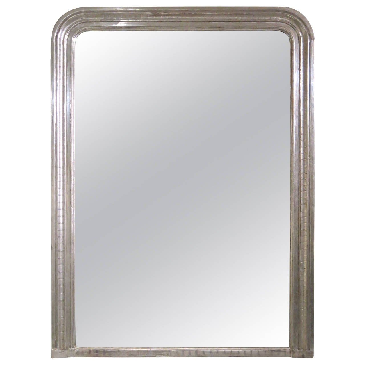 Antique French Louis Philippe Silver Leaf Mirror At 1stdibs Pertaining To Silver French Mirror (Image 2 of 15)