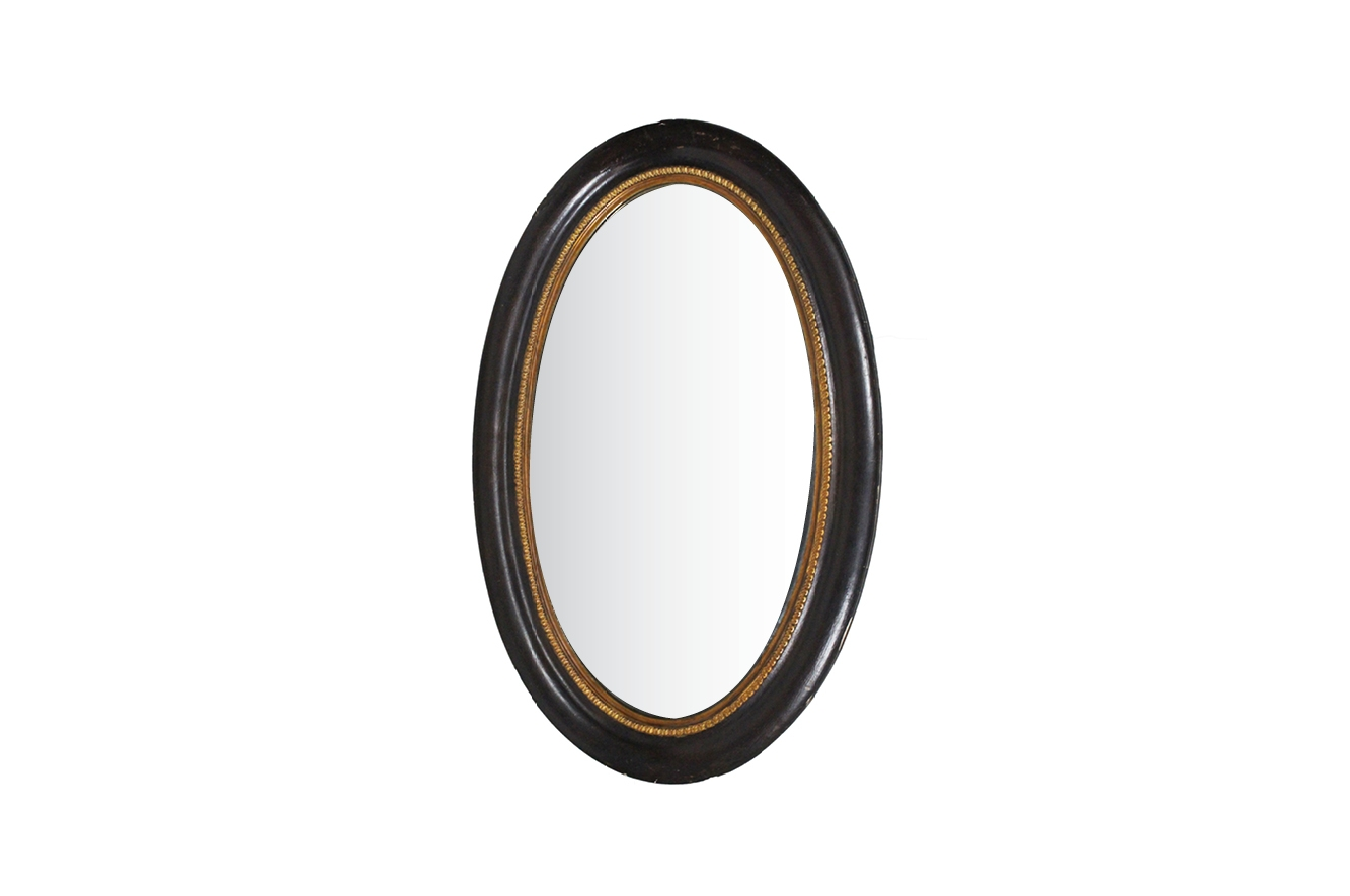 Antique French Oval Mirror For Sale At Pamono For French Oval Mirror (Image 6 of 15)
