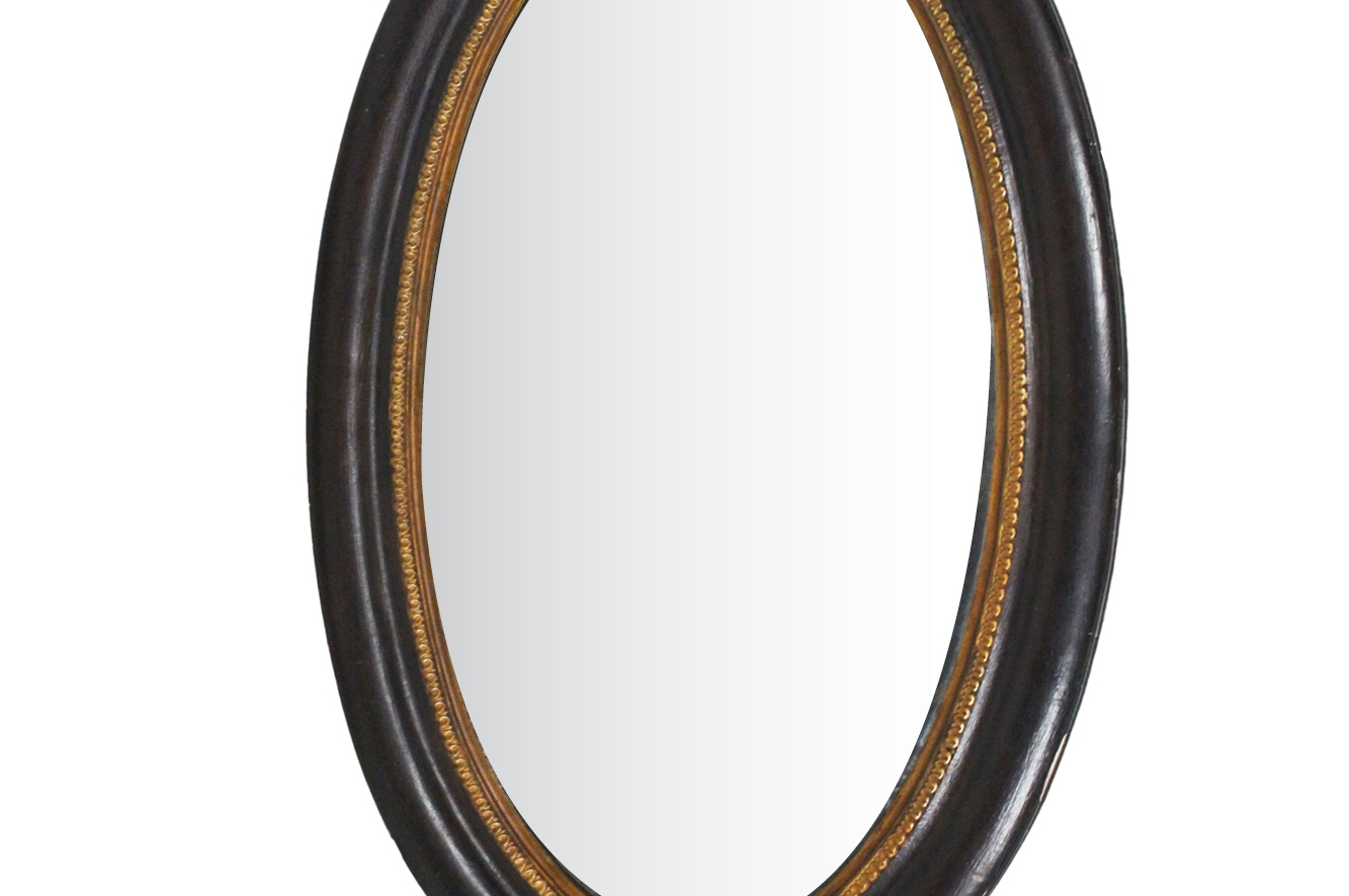 Antique French Oval Mirror For Sale At Pamono Intended For French Oval Mirror (Image 7 of 15)