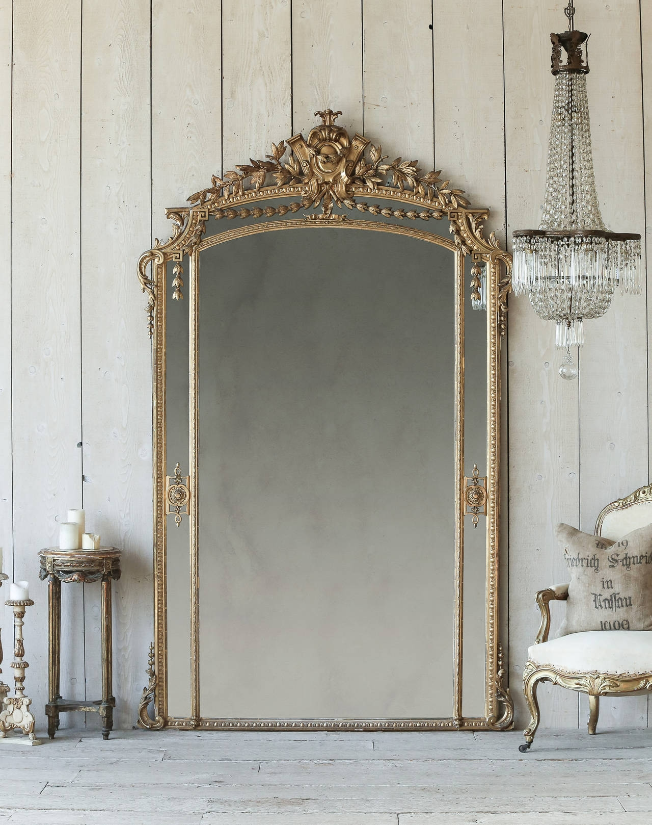 Antique French Pareclose Ballroom Mirror Circa 1880 At 1stdibs Within Antique French Floor Mirror (Image 4 of 15)