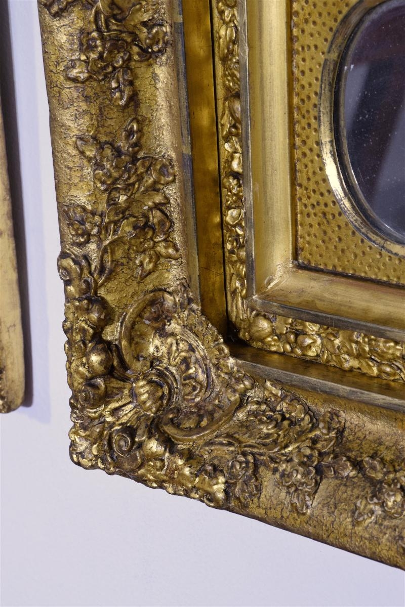 Antique Gilded Mirrors Set Of 3 For Sale At Pamono Intended For Antique Gilded Mirror (Image 10 of 15)