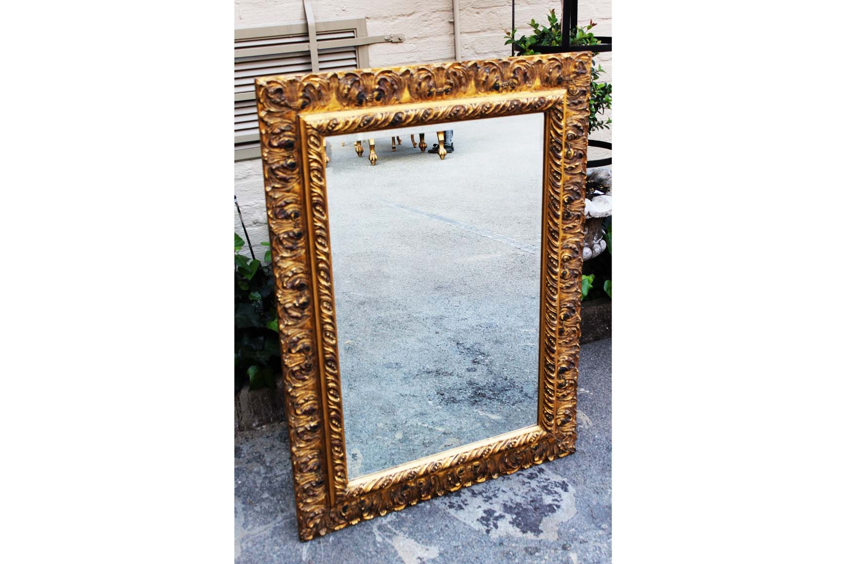 Antique Gilt Framed Bevelled Mirror Ziora Intended For Gilt Edged Mirrors (Image 5 of 15)