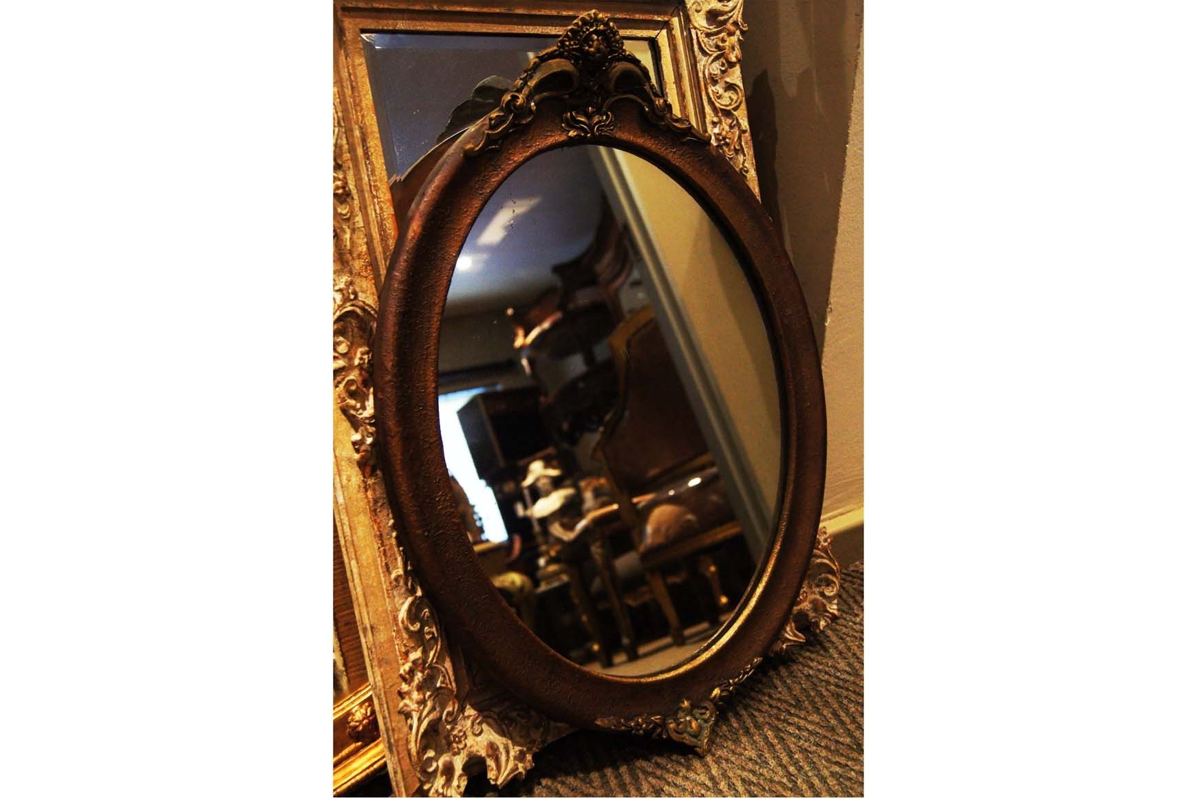 Antique Gilt Framed Mirror Ziora Throughout Gilt Framed Mirrors (Image 7 of 15)