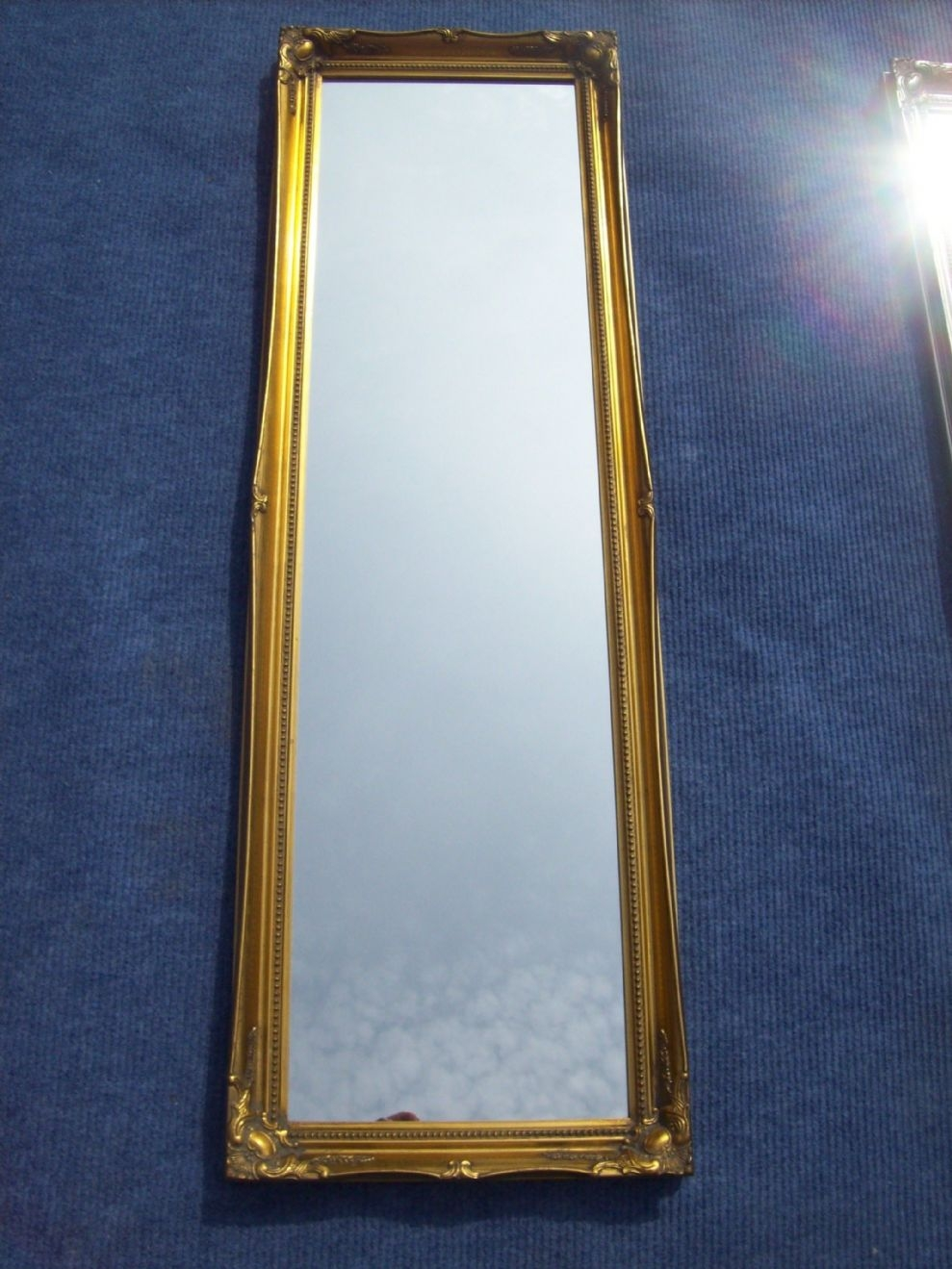 Antique Gold Full Length Dressing Mirror For Full Length Gold Mirror (Image 1 of 15)