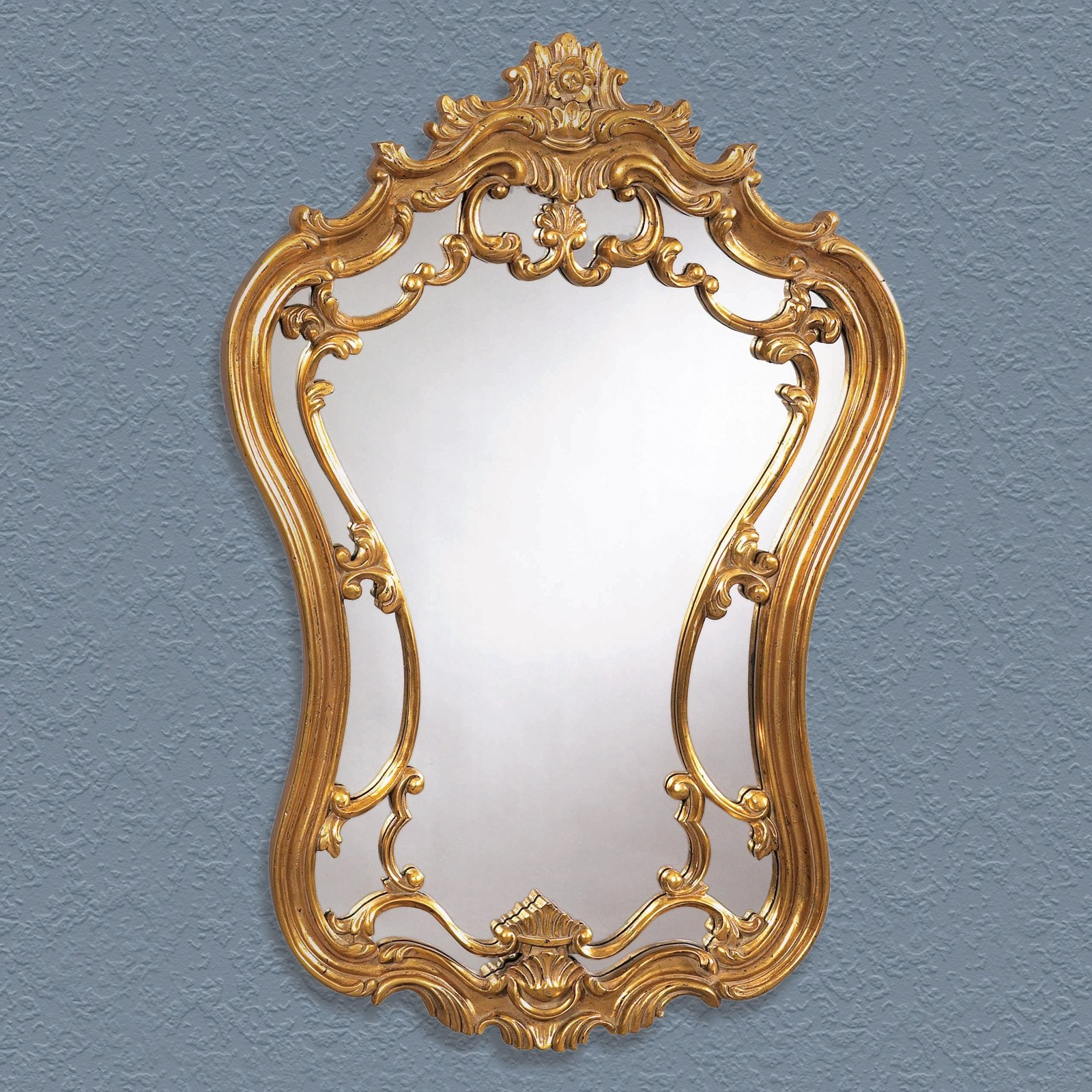 Antique Gold Ornate Arched Wall Mirror 24w X 35h In Mirrors Inside Mirror Ornate (Image 1 of 15)