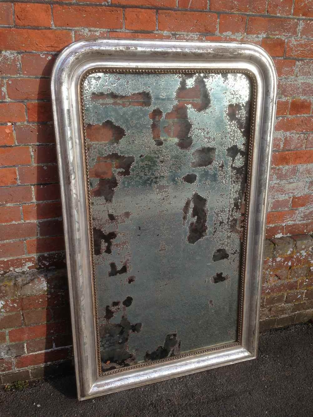 Antique Highly Decorative Large Silvered French Arched Top Throughout Large Antique Mirrors (View 15 of 15)