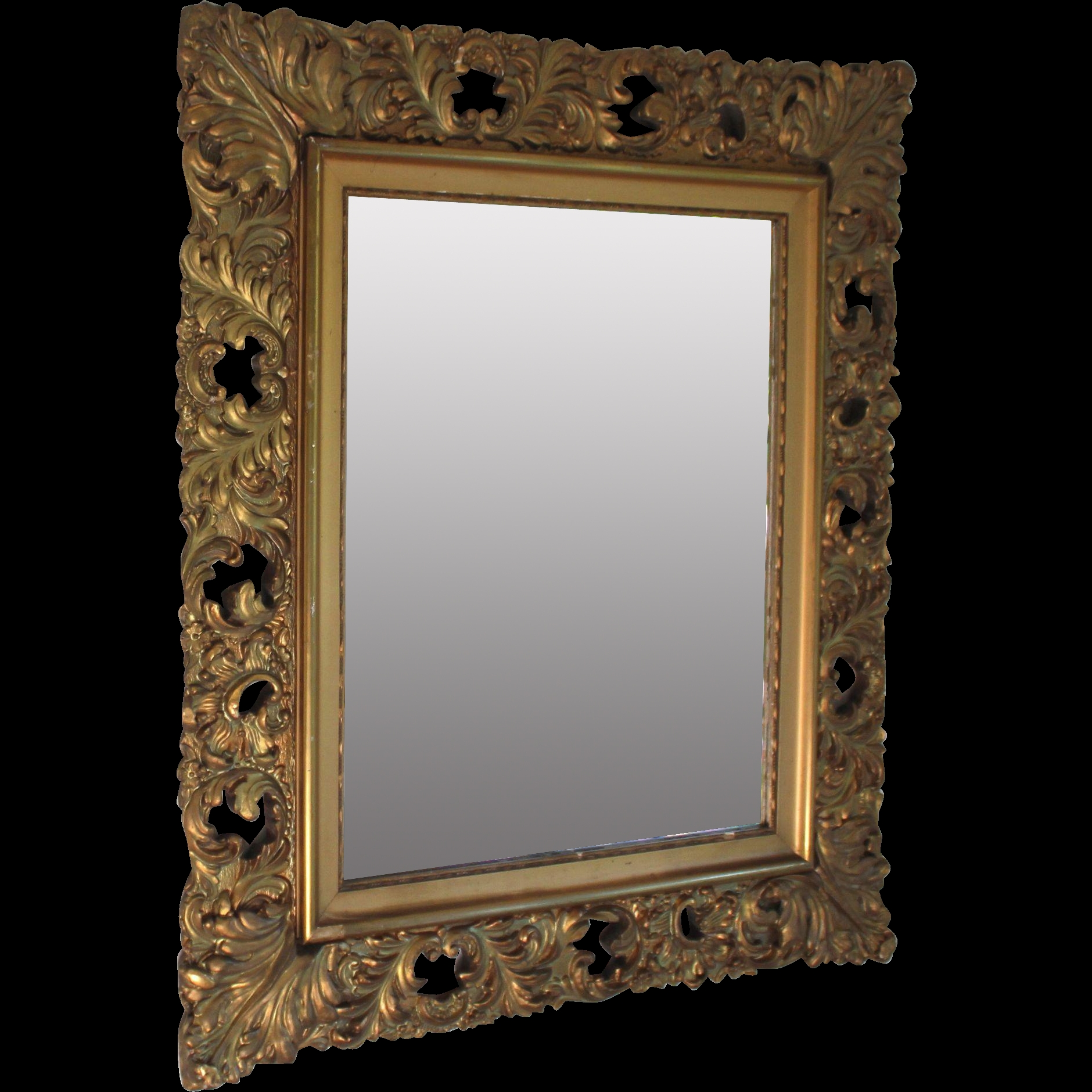 Antique Italian Gilt Wood Florentine Mirror From Within Antique Gilt Mirrors (Image 8 of 15)