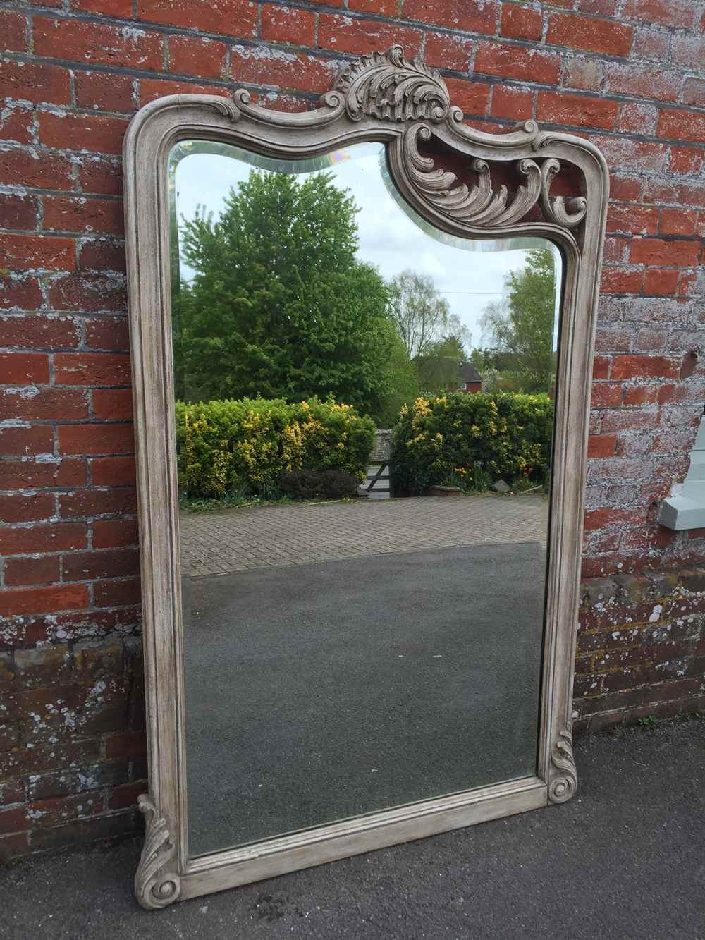 Antique Large Floor Standing Mirrors A Highly Unusual Large For Large Floor Standing Mirrors (Image 3 of 15)