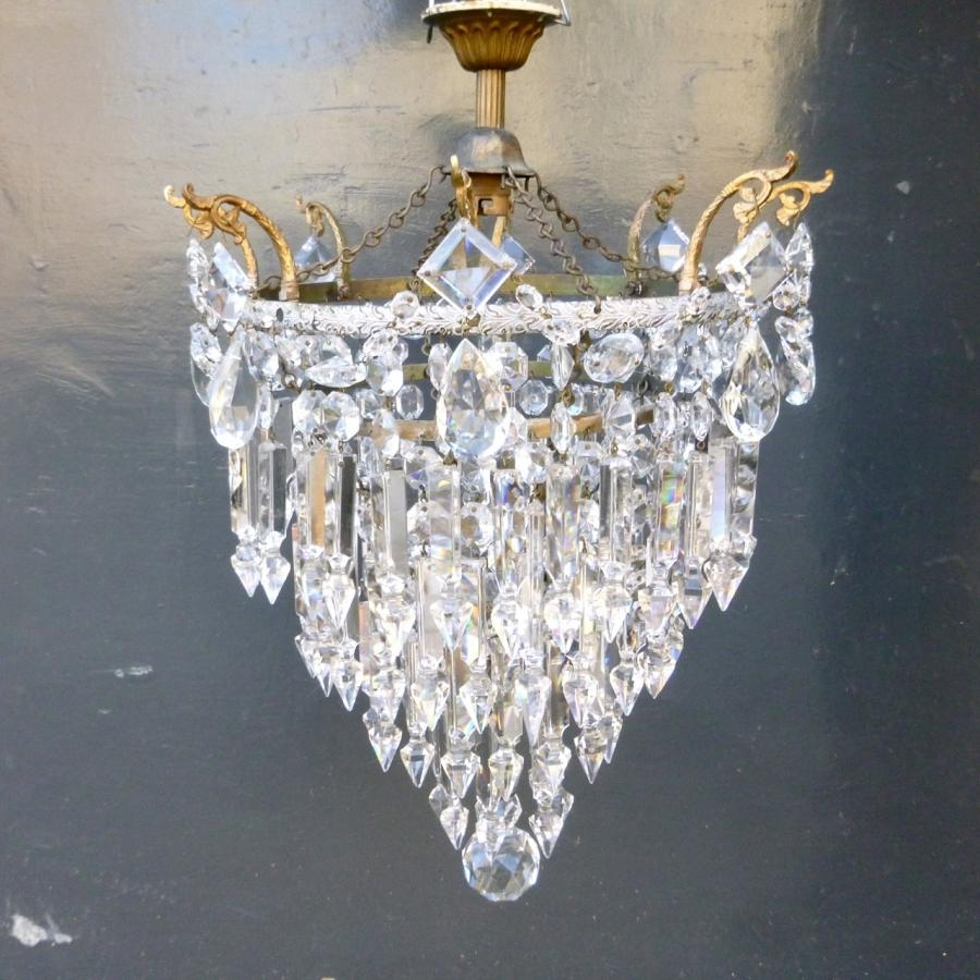 Antique Lead Crystal Chandelier Antique Salvaged Lighting Within Lead Crystal Chandeliers (Image 6 of 15)