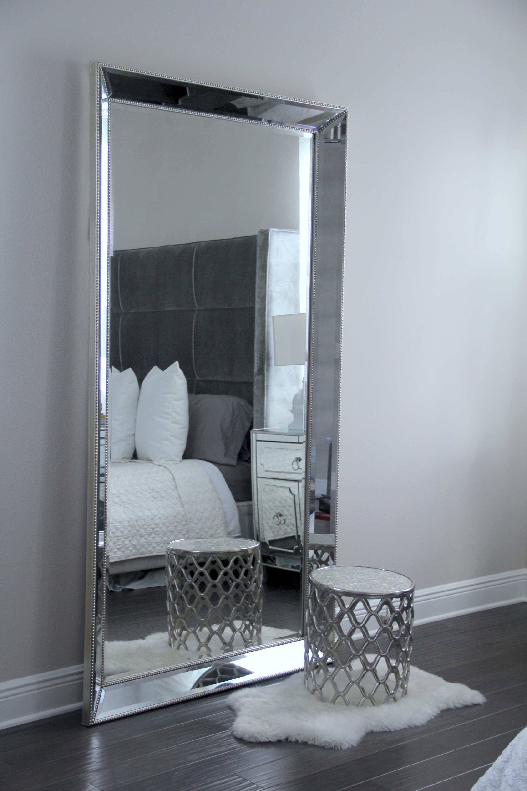 Antique Leaner Mirror For Your Room Decoration Ideas Silver Throughout Long Silver Wall Mirror (Image 1 of 15)