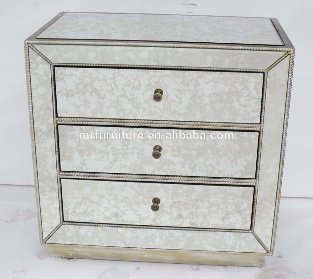 Antique Mirrored Nightstand Inside Antique Mirrored Bedside Tables (Image 5 of 15)