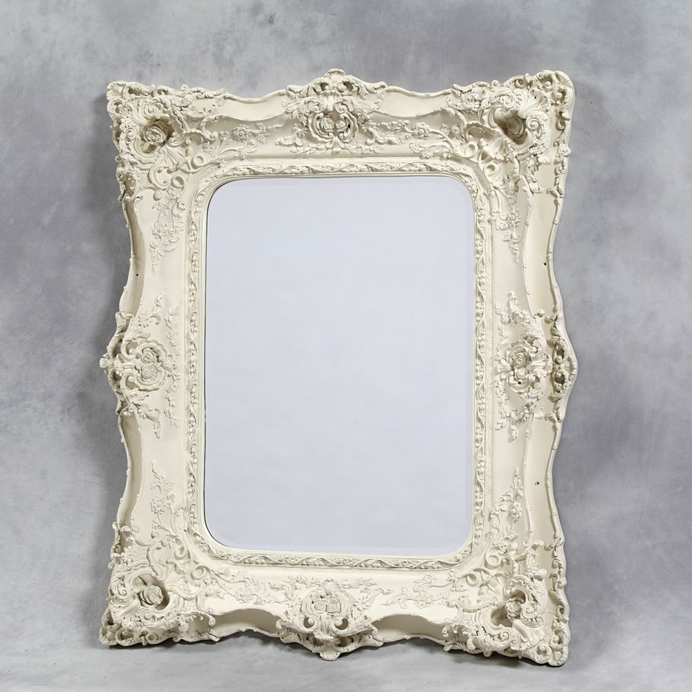 Antique Mirrors Cream Antique White Square Mirror Mirrors With Reproduction Mirrors (View 8 of 15)