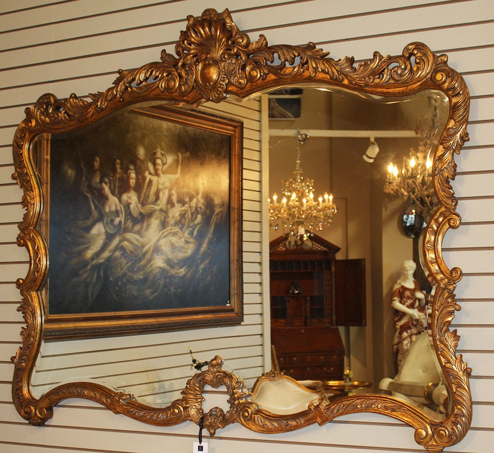 Antique Mirrors Intended For Huge Antique Mirror (Image 6 of 15)