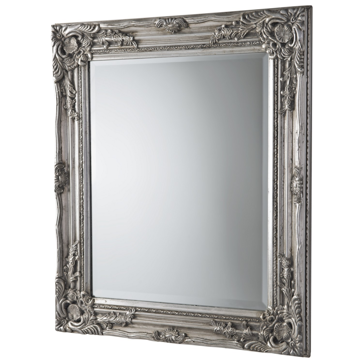 Antique Ornate Mirror Silver Regarding Silver Ornate Mirror (Image 5 of 15)