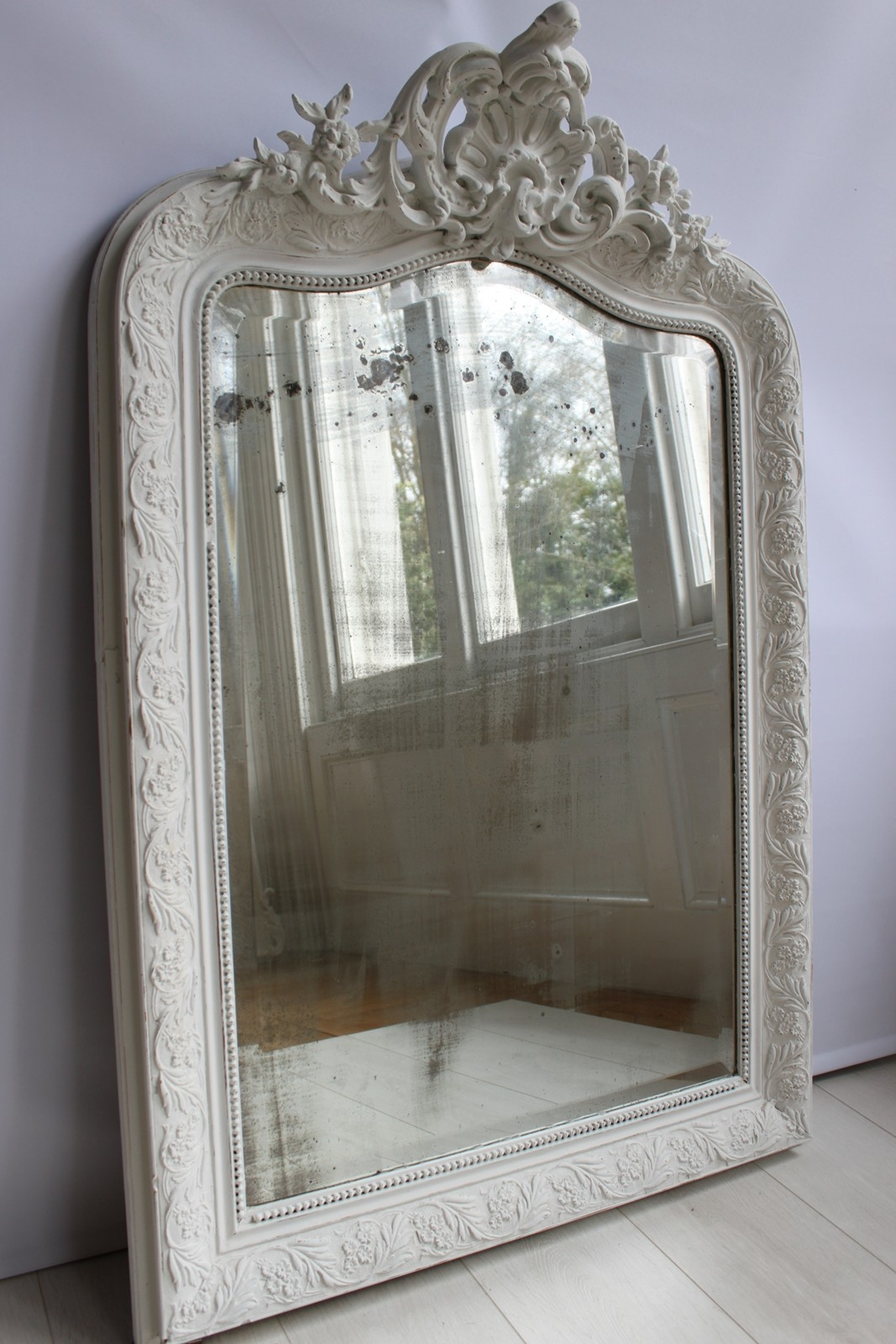 Antique Painted French Mirror The Hoarde For Vintage French Mirror (Image 6 of 15)
