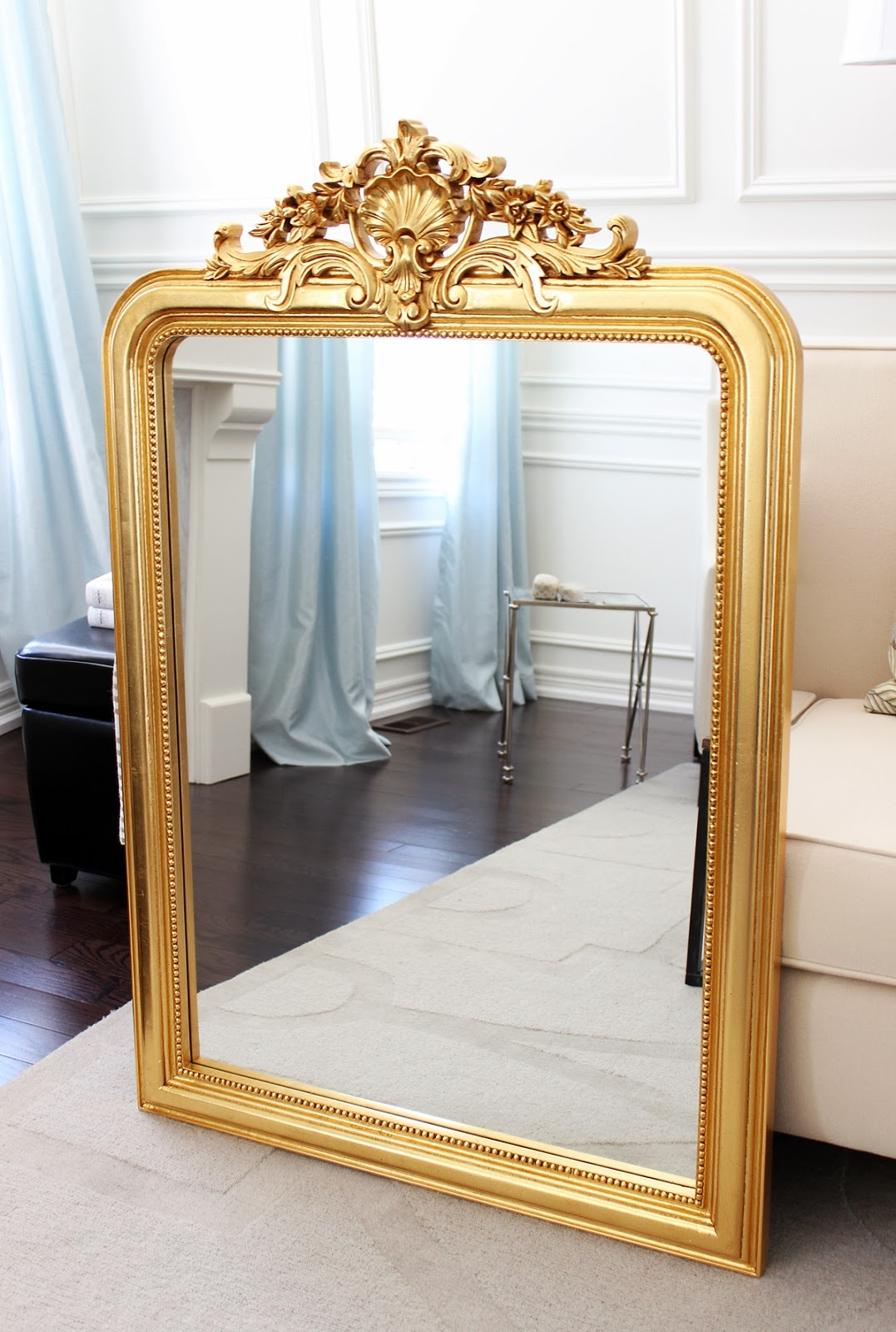 Antique Reproduction Louis Philippe Gilt Mirror Antique French Inside French Mirrors Reproduction (Image 4 of 15)